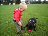 Chako kverker en ball