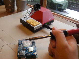 Soldering the wifi shield